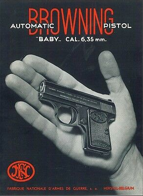 Fn Baby Browning .25 Pistol Instruction Manual On A Cd