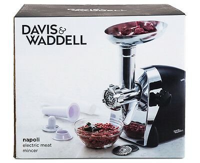 Davis & Waddell Napoli Electric Meat Mincer - Black/Silver