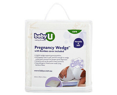 Baby U Pregnancy Wedge w/ Bamboo Cover