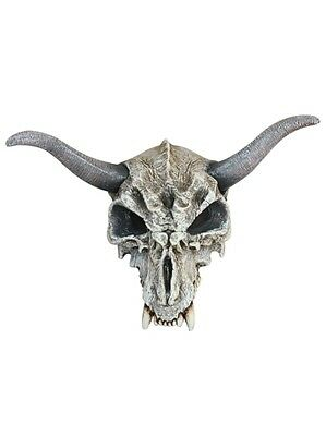 Mask Head Skull Animal with Horns - Scary Accessory for Horror Costume Halloween
