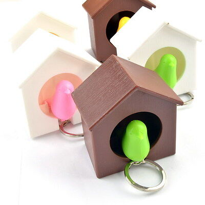 Cool Bird Nest Sparrow House Keychain Keyring Whistle Wall Hook Key Holder New