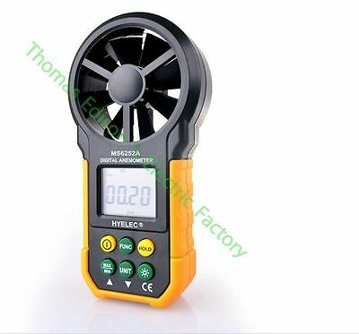 High quality Digital Anemometer Wind Speed Air Volume Measuring Meter LCD