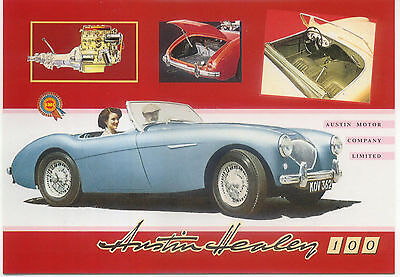 Austin Healey 100 Large Format MODERN postcard by Jenna
