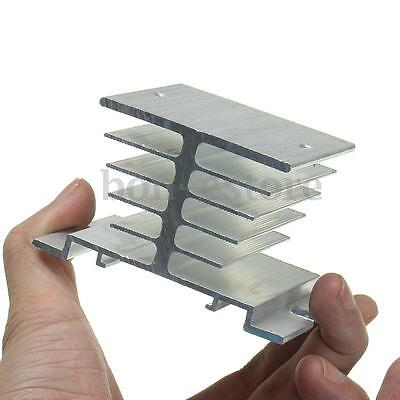 New Aluminum Alloy Heat Sink DIN Nail Mount For Solid State Relay SSR-25DA 40DA
