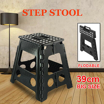 39cm Folding Step Stool Portable Plastic Foldable Chair Store Flat Outdoor New