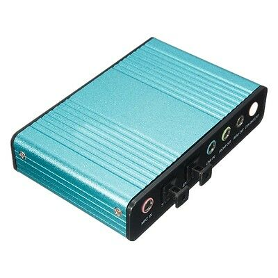 Esterna SCHEDA AUDIO USB 6 Channel 5.1 Audio S/PDIF Optical Sound Card For PC S7