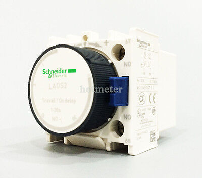 H● Schneider LADS2 Contactor Time Delay Auxiliary  1-30s New