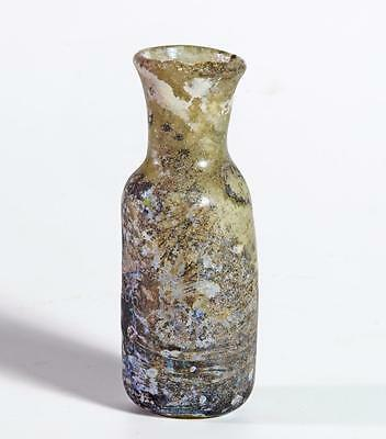 Roman glass unguents flask circa 3rd century AD.