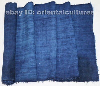 Vintage tribe chinese miao people's homespun hand-woven fabric textile roll 2.9M