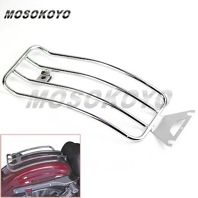 Steel Rear Fender Solo Seat Luggage Rack Chrome Fit FLHR ROAD KING TOURING MODEL