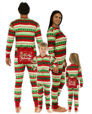 Adult Kids Christmas Pyjamas Matching Family Pajamas Nightwear Sleepwear Costume