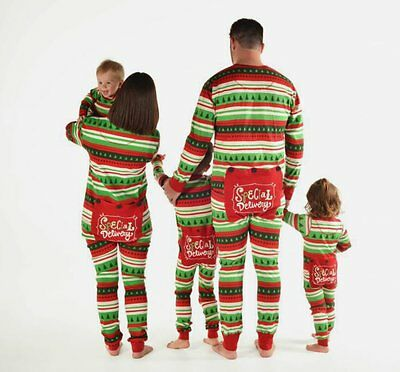 New Children Kids Adult XMAS Family Matching Pajamas Sleepwear Nightwear Outfits