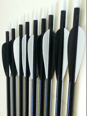 "20x 32"" Fiberglass Arrows 15-80LB Screw Tip Hunting Target Recurve Compound Bow"