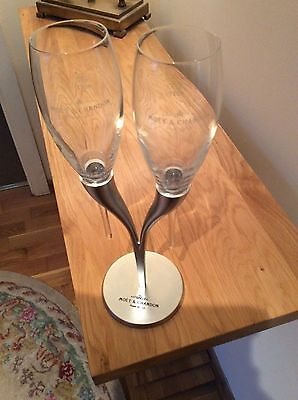 Moet Chandon Champagne Candelabra Stand And 2 X Pomponne Flutes  Unboxed New