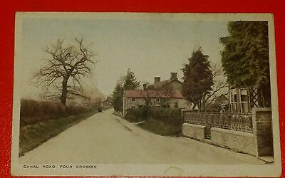 VINTAGE POSTCARD - CANAL ROAD, FOUR CROSSES, WELSHPOOL, POWYS - Early 1900's.
