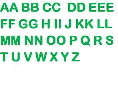 40 ironing letters, Green, 5cm