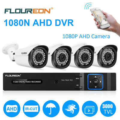 8 Channel 1080P AHD CCTV DVR HDMI Outdoor 2000TVL Video Security Camera System