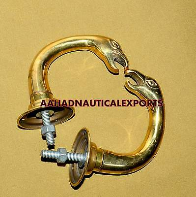 Vintage Pair of Solid Brass Door Lever Handles set + Back Plates Free Shipping