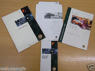 MGF Service Portfolio / Manual CD compact disc R742 etc Books as Pictured  (A7)