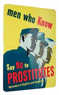 Ww2 Just Say No Vd Psa Poster Reproduction Sign 8 X 12 Inches New Aluminum