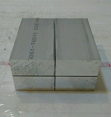 "4 pc 1"" X 2"" X 4"" long new 6061 solid aluminum plate flat stock bar cnc block"