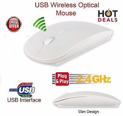 NEW Wireless 2.4 GHz Cordless Mouse USB Optical Scroll For PC Laptop Computer