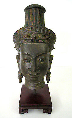 Indian God / Goddess - Sukhothai Style - Khmer Shiva - Hindu - Asian Head #1