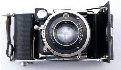 Vintage German Camera Ihagee Compur F. Deckel Munchen - Working
