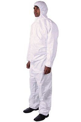 DuPont Tyvek 4XL Disposable Suit with Elastic Wrists, Ankles and Hood