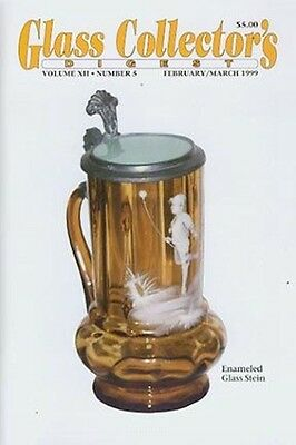 Glass Digest 2/99 Mary Gregory, Paden City, Ice Buckets, Debzie ruby vase,