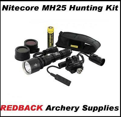 Nitecore MH25 Hunting Kit Tourch 960 Lumens mounts to compound bow or rifle