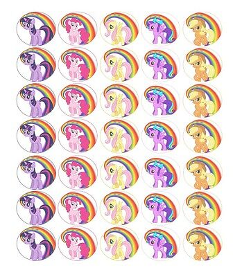 35 x My Little Pony  Edible Rice/Wafer Cupcake toppers