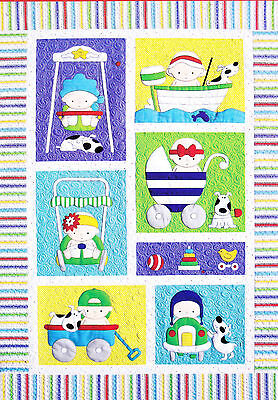 Babies - fun pieced & applique quilt PATTERN from Amy Bradley