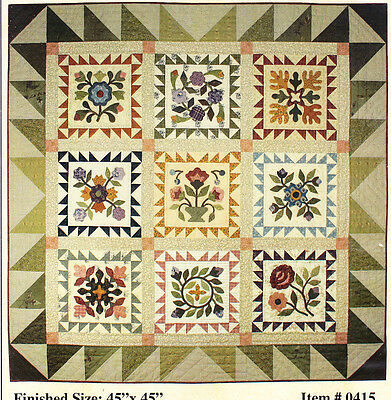 Morning Glory - applique & pieced wall quilt PATTERN- Lori Smith