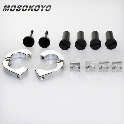 New Quick Release Mounting Hardware Clamp Kit Custom For 1994-13 touring Models