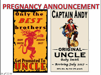 Pregnancy Announcement Promoted Uncle Aunt New Baby Only the Best Printable PDF