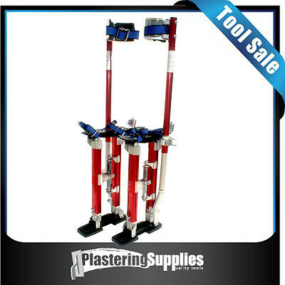 "Plastering Stilts Large 24"" to 40""  Red"