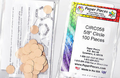 """5/8"""" circles - English Paper Piecing templates - pack of 100"""