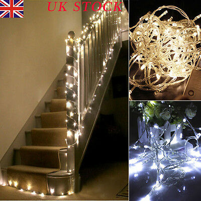 1-10M Battery Operated LED String Fairy Lights Xmas Wedding Party Decor UK
