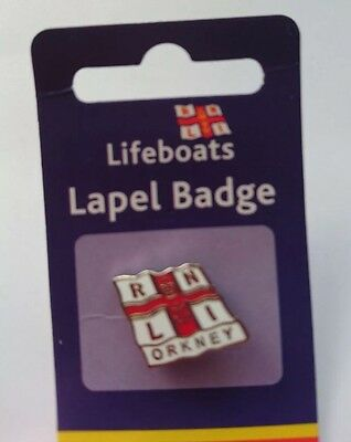 RNLI Orkney Pin Badge. Rare, Limited Availability (Only 2 Left)