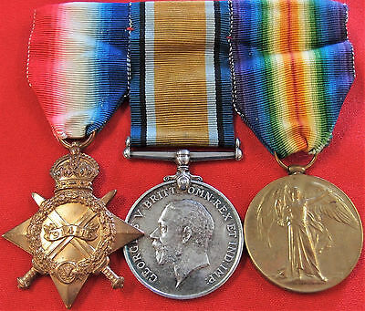 Ww1 Canadian *wounded* Army Medal Trio Group & Full Research 14Th Infantry Regt