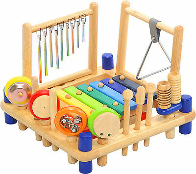I'm Toy Melody Mix - 10 Piece Kids Wooden Musical Instrument Play Centre Toy