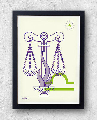 LIBRA Print! Signs of the Zodiac, Astrology, Constellation, Star Sign, wall art