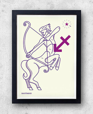 SAGITTARIUS Print! Signs of the Zodiac, Astrology, Constellation, The Archer,