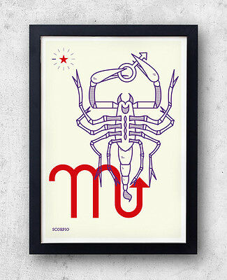 SCORPIO Print! Signs of the Zodiac, Astrology, Constellation, Gaia, Orion, Water