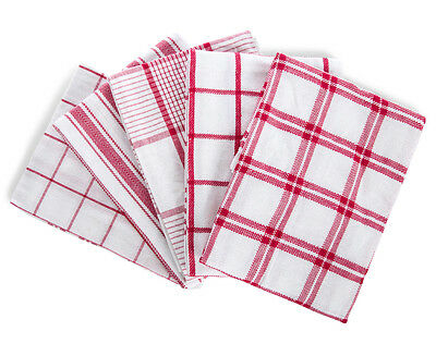 5-Pack 50x70cm Tea Towels - Red