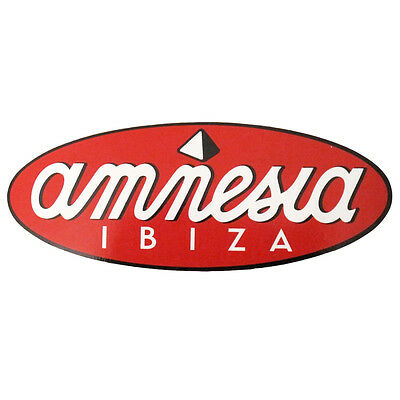 OFFICIAL Amnesia Ibiza: Large Red Oval Logo Club Sticker RRP £8.00