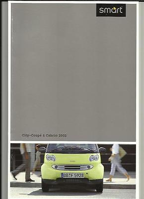 Smart City-Cabrio City-Coupe Pure Pulse And Passion Car Sales Brochure  2002