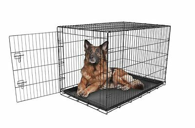 Dog Crates And Kennels Extra Large Outdoor Metal Wire Pet Cage Steel Indoor New