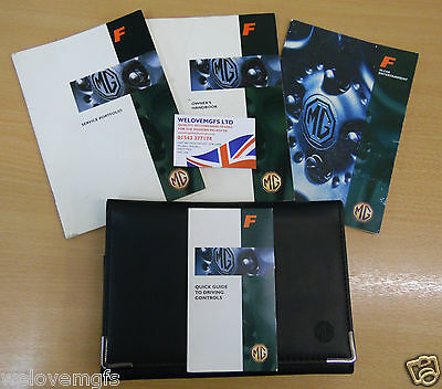 MGF Owners Handbook Manual full service Book Case Wallet Folder as Pictured (F2)